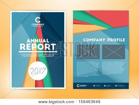 Annual Report Cover Design Template. Flyer Vector Template. Cover Layout Design With Abstract Backgr
