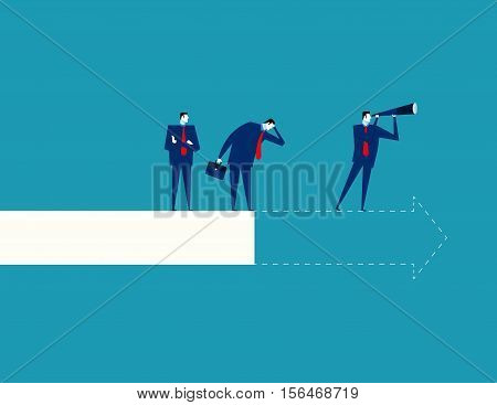 Foresight Of Business. Concept Business Illustration. Vector Flat