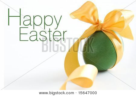 Green easter egg - greetings