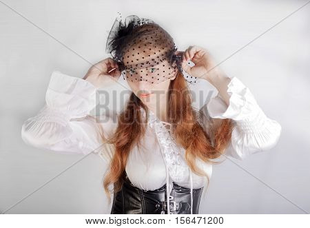 Mystery Woman With Veil