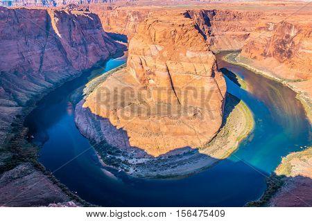 Horseshoe Bend Colorado river near Page Arizona USA