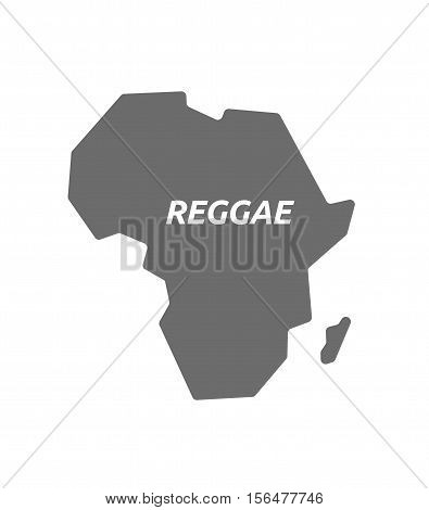 Isolated Africa Map With    The Text Reggae