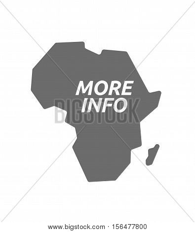 Isolated Africa Map With    The Text More Info