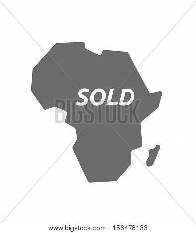 Isolated Africa Map With    The Text Sold