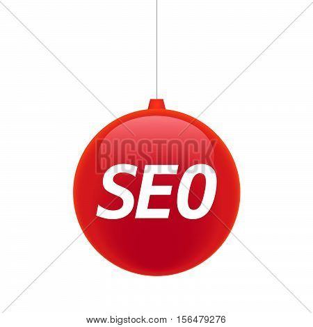 Isolated Christmas Ball With    The Text Seo