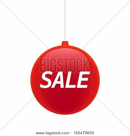 Isolated Christmas Ball With    The Text Sale