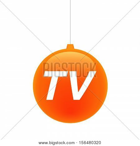 Isolated Christmas Ball With    The Text Tv