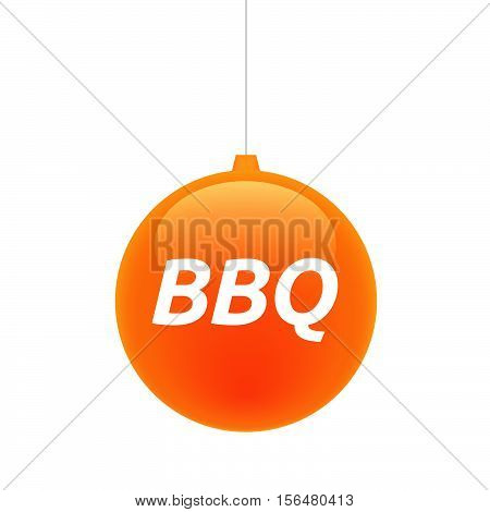 Isolated Christmas Ball With    The Text Bbq
