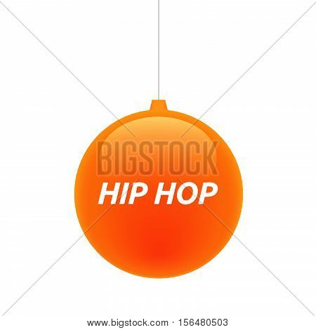 Isolated Christmas Ball With    The Text Hip Hop