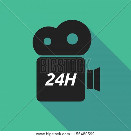 Long Shadow Camera Icon With    The Text 24H