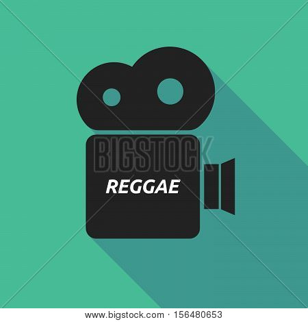 Long Shadow Camera Icon With    The Text Reggae