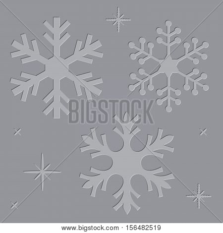 Letterpress Snowflakes