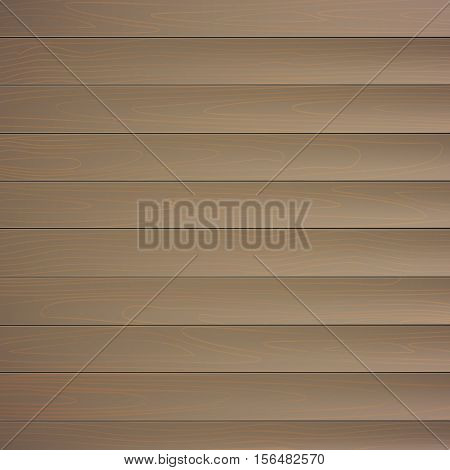 Wood plank background, natural vector wooden planks with texture fibers, realistic image