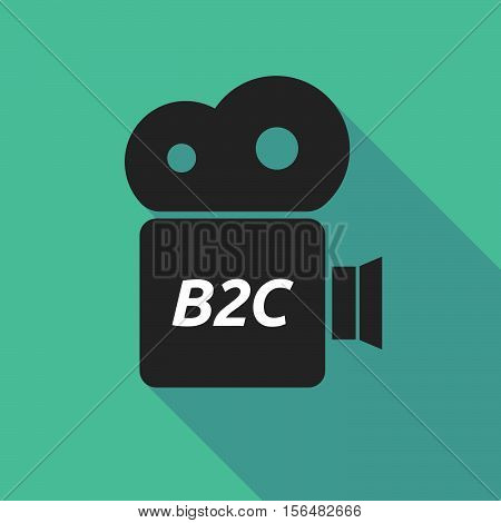 Long Shadow Camera Icon With    The Text B2C