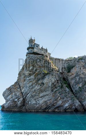 """The ancient castle """"Swallow's Nest"""" view from the sea"""