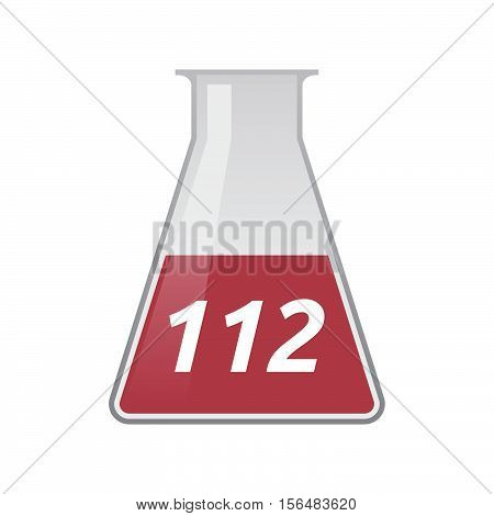 Isolated Test Tube With    The Text 112