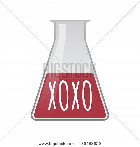 Isolated Test Tube With    The Text Xoxo