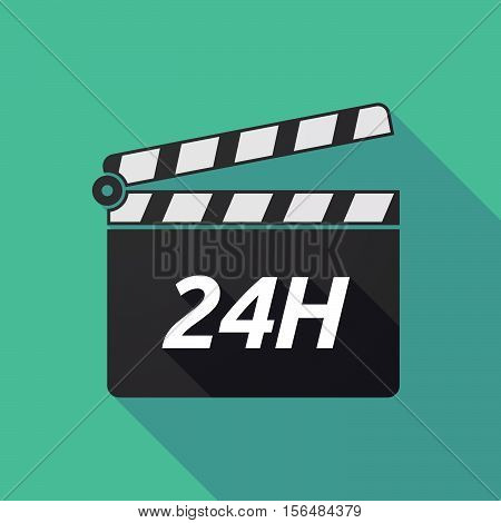 Long Shadow Clapper Board With    The Text 24H