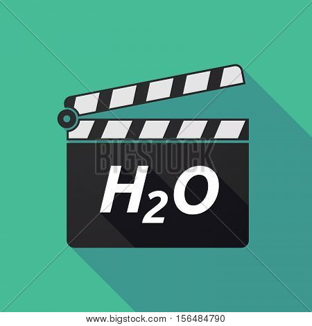 Long Shadow Clapper Board With    The Text H2O
