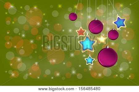 Background with Christmas and New Year concept, digitally created by computer software