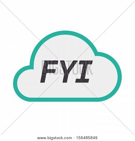 Isolated Cloud Icon With    The Text Fyi