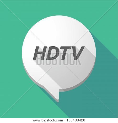 Long Shadow Comic Balloon With    The Text Hdtv