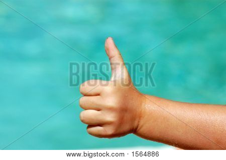 Thumb Up Hand Of Child