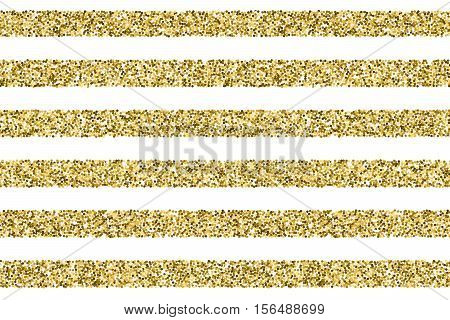 Gift glitter vector striped pattern. Straight striped from glitter dots, glittering stiped background illustration
