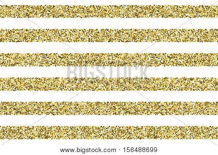 Gift glitter vector striped pattern. Straight striped from glitter dots, glittering stiped background illustration