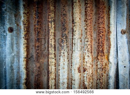 Old galvanized steel texture for design background