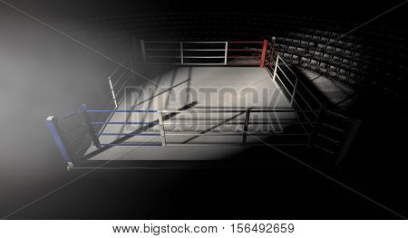 Boxing Ring Corner Lit
