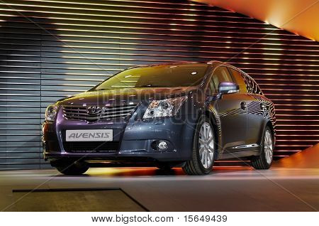 PARIS, FRANCE - OCTOBER 02: Paris Motor Show on October 02, 2008, showing Toyota Avensis, rear view