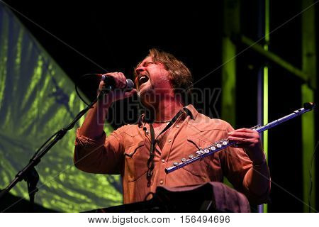 LAKE WALES, FL-NOV 4: Marcus James Henderson of the Marshall Tucker Band performs at the CountryFlo Music and Camping Festival on November 4, 2016 in Lake Wales, Florida.