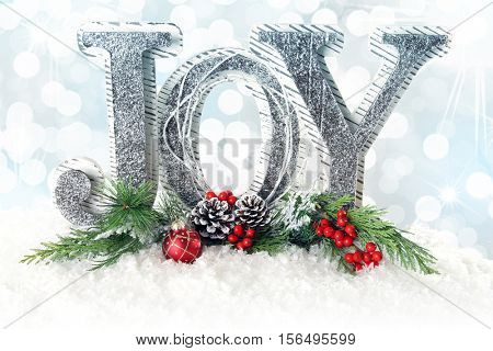 Christmas message. JOY