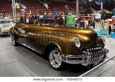 HELSINKI, FINLAND - OCTOBER 3: X-Treme Car Show, showing 1946 Buick Roadmaster 76