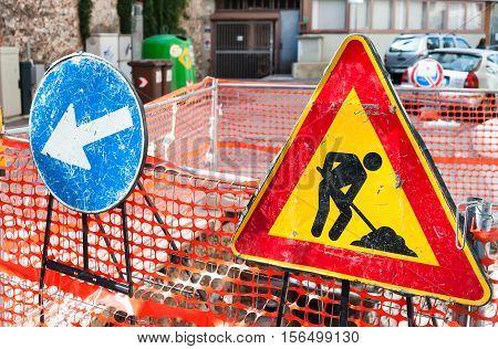 Road Sign Roadworks