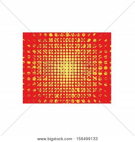 Abstract creative concept vector comics pop art style blank layout and isolated dots pattern on background.
