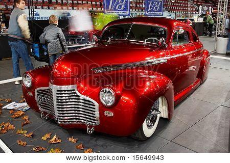HELSINKI, FINLAND - OCTOBER 3: X-Treme Car Show, showing 1941 Chevrolet Coupe Justiina on October 3, 2009 in Helsinki, Finland