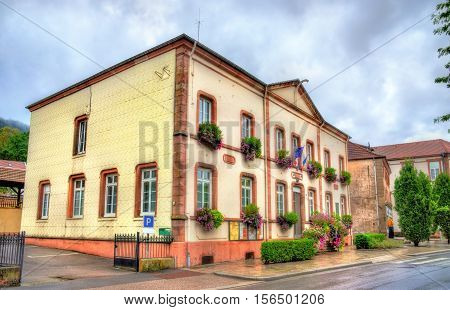 Town hall of Moyenmoutier, the Vosges Department - France, Grand Est Region