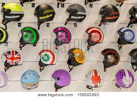 Helmets On Display At Eicma 2016