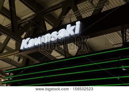 Detail Of Kawasaki Stand At Eicma 2016