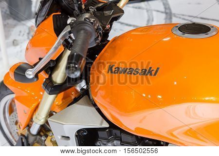 Kawasaki Motorbike On Display At Eicma 2016
