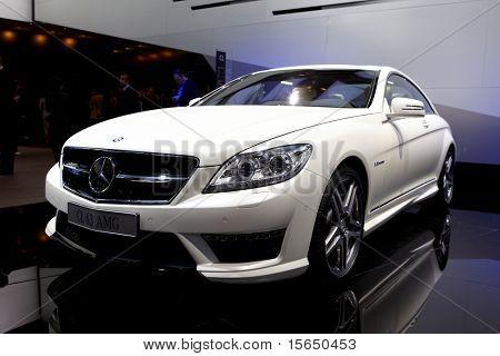 PARIS, FRANCE - SEPTEMBER 30: Paris Motor Show on September 30, 2010, Mercedes-Benz CL63 AMG, front view