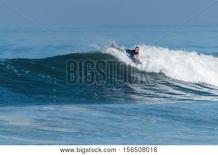 Bodyboarder In Action