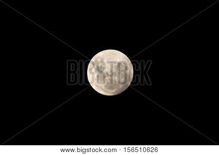 Super Moon, close to earh on November 14, 2016. Buenos Aires, Argentina.