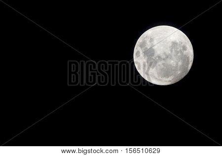 Super Moon, close to earth, November 14, 2016. Buenos Aires, Argentina.