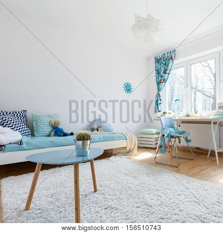 Light Child Room With Large Window