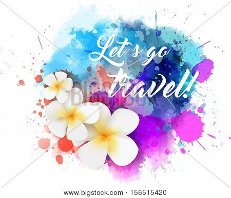 Travel Background With Flowers
