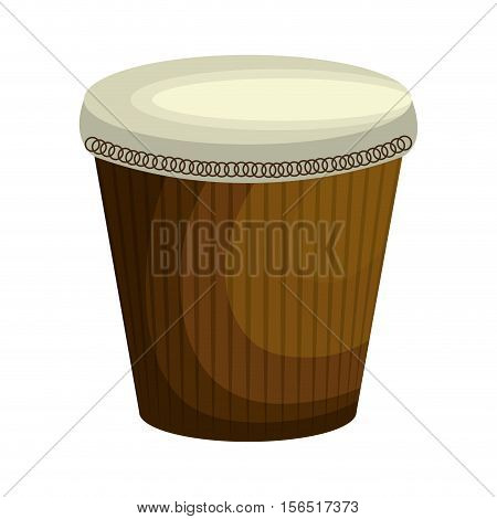 brazilian bongo instrument icon vector illustration design