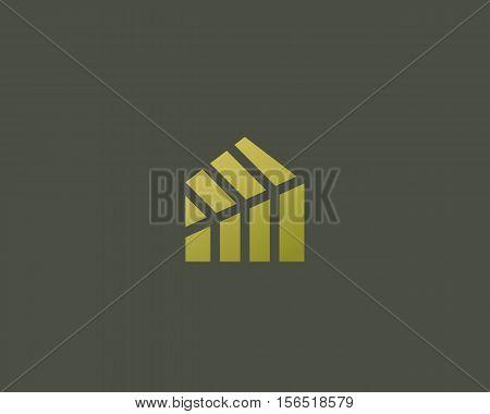 Leaf home logo design. Eco house vector logotype. Green energy creative sign symbol. Nature product farm icon